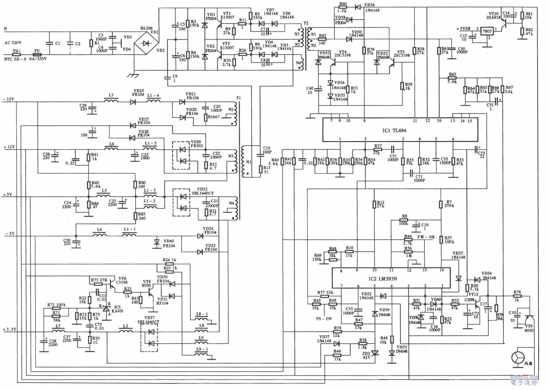 2,tl494的1脚的分压取样电阻.