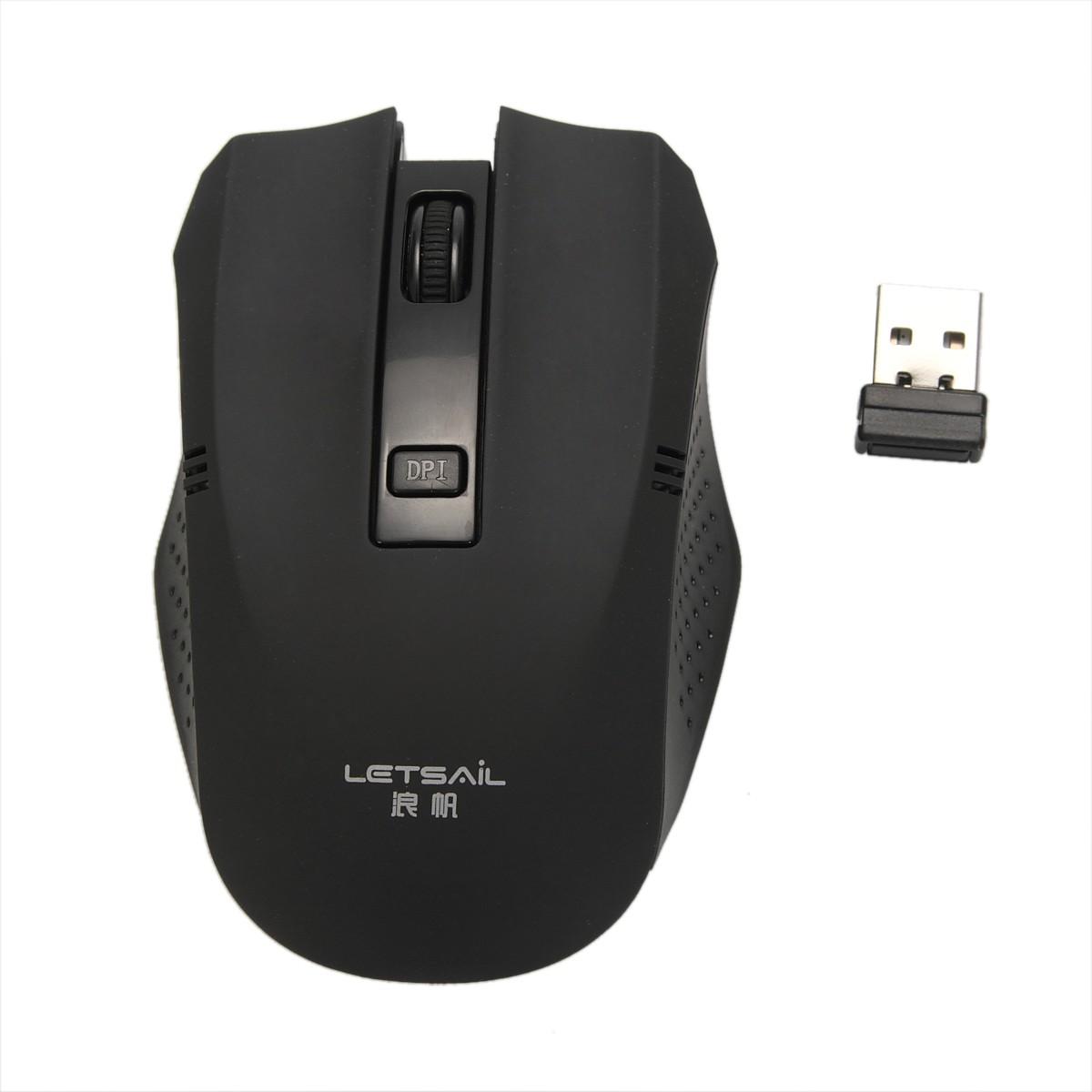 2,usb无线鼠标:将usb接收器插入电脑的usb接口,无线鼠标开启并自动
