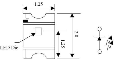 1,直插的发光二极管:脚长的是正极,短的是负极.